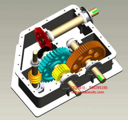 多级齿轮减速器 3D模型.png